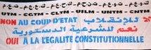 Les centrales syndicales contre le coup d'Etat appellent au rétablissement de la légalité constitutionnelle