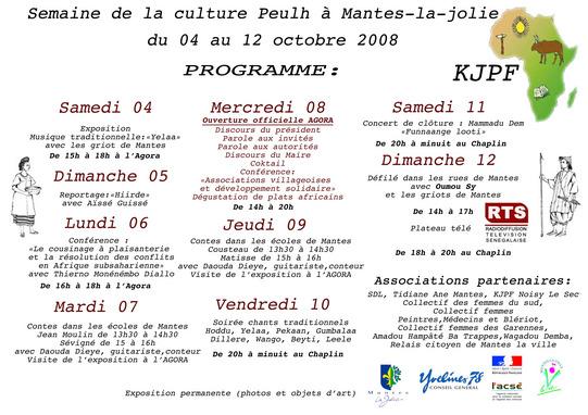 Semaine de la culture Peulh à Mantes-la-Jolie du 4 au 12 octobre 2008