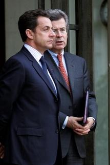 M. Jean David LEVITTE et Nicolas Sarkozy