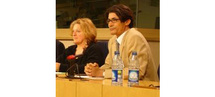 Le couple de putschistes, Marie-Anne Isler-Beguin, Députée Verte Européenne et Mohamed Lemine Ould Dadde, ministre putschiste