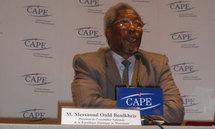 Monsieur Messaoud ould Boulkheir a donné une conférence de presse au Centre d'Accueil de la Presse