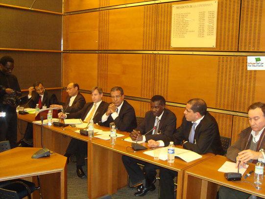 MM. Yahya Ould Kebd, Moncef Marzouki, François Grosdidier, Mohamed Baba, Assane Soumaré, Sidi Mohamed Ould Amajar, Haytham Manna