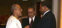 Jean Ping s'entretient avec le Guide libyen de la crise en Mauritanie