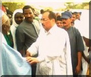 Entrée remarquable de Ould Abdel Aziz à Boghé