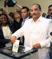 Le Général Ould Abdel Aziz en route vers la victoire à la présidentielle.