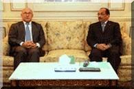 Le président de la république reçoit le président du groupe parlementaire d'amitié France-Mauritanie à l'assemblée nationale française.