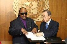 Stevie Wonder nouveau Messager de la Paix des Nations unies
