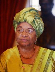 La présidente du Libéria Ellen Johnson Sirleaf