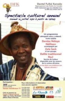 Sur Montréal au Québec : Spectacle culturel annuel du Dental Fulbé Kanada (DFK), 14 juillet 2012
