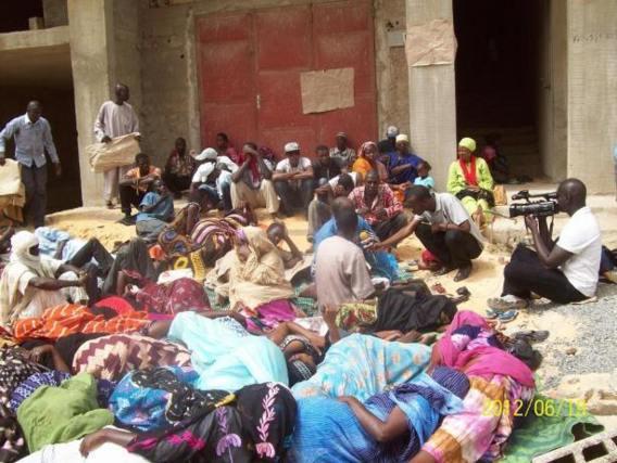 19ième journée de la grève de la faim des réfugiés mauritaniens de Dakar à la Vallée.