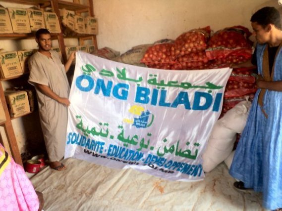 L'ONG mauritanienne Biladi distribue 4.8 tonnes de denres alimentaires  Chinguetti 
