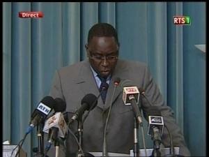 """[ Audio - Urgent ] Le President Macky Sall """" Supprime """" Le Sénat"""