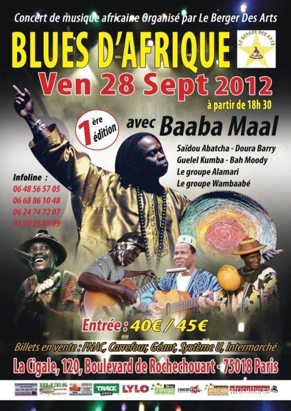 Blues d'Afrique avec Baaba Maal, Saïdou Abatcha....