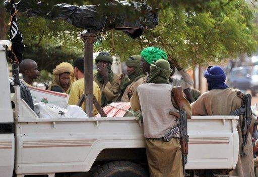 Un groupe d'islamistes armés à Gao, dans le Nord-Mali, le 21 septembre 2012