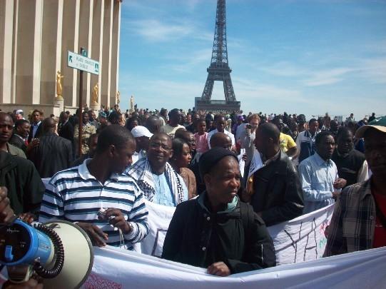 Manifestation à Paris contre le coup d'état en Mauritanie