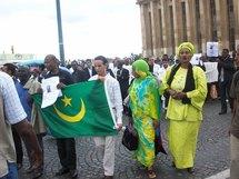 Manifestation à Paris contre le coup d' état en Mauritanie