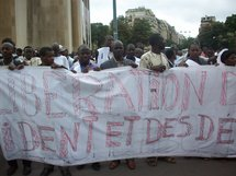 FNDD : Marche de protestation contre le coup d'Etat du 6/8/08 à Nouakchott