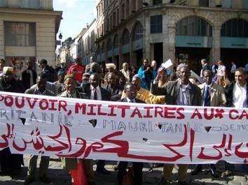 Déclaration et photos: Manifestation à Rouen -  du Front National pour la Défense de la Démocratie (FNDD) et le retour à la légalité constitutionnelle.