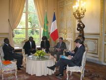 Le président de l'Assemblée nationale Mr Messoud Ould Boulkeire reçu à l'Elysée et à l'Assemblée Nationale Française
