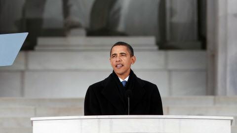 Barack Obama s'est adressé à la foule.