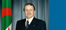 Le Président algérien Bouteklikha