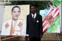 Obama par un peintre mauritanien