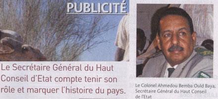 500 mille euros pour 8 pages de publicité dans un hebdomadaire français: la Junte jette l'argent de l'Etat par la fenêtre