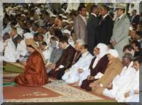 Stade Olympique de Nouakchott: Prière collective sous la direction de Mouammar Kadhafi