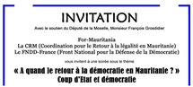 """""""A quand le Retour à la Démocratie en Mauritanie"""": Vidéo par for mauritania"""