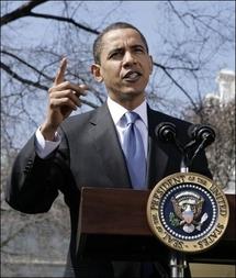 Le président Obama, 18-03-09