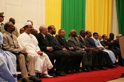 Cérémonie officielle de signature de l'accord de Dakar