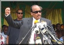 Les grandes lignes du discours du candidat Ould Abdel Aziz au meeting d'Aioun.