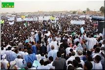 Plus de 50.000 personnes au « meeting du défi » organisé par le candidat Abdelaziz à Nouakchott
