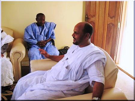 Rencontre Ibrahima Sarr et Jemil Ould Mansour (photos)