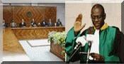 Le Président de la République préside la cérémonie de prestation de serment du nouveau président de la cour suprême.