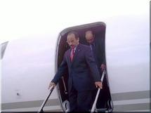 Le Président de la République arrive à Madrid