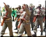 Transfert de grandes unités militaires à l'intérieur du pays