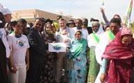 Vidéo : Les représentants de la marche de la paix internationale arrivent au Palais présidentiel de Nouakchott