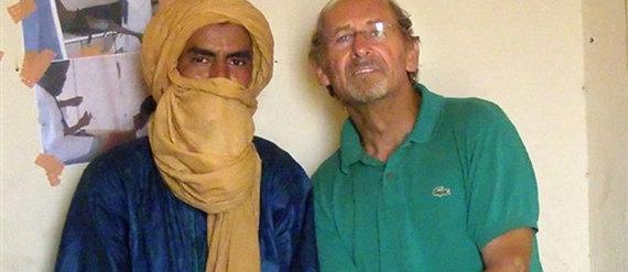 Pierre Camatte, ici peu avant son enlèvement, serait entre les mains d'Al-Qaeda