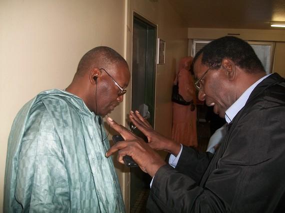 M Kane Harouna en grande discussion avec Dr Sy Moussa