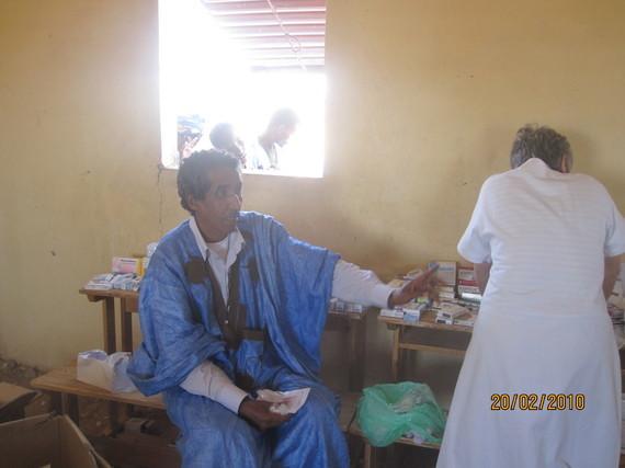 Mohamed Dogui avec Mme Chantal Levêque de l'AVOMM