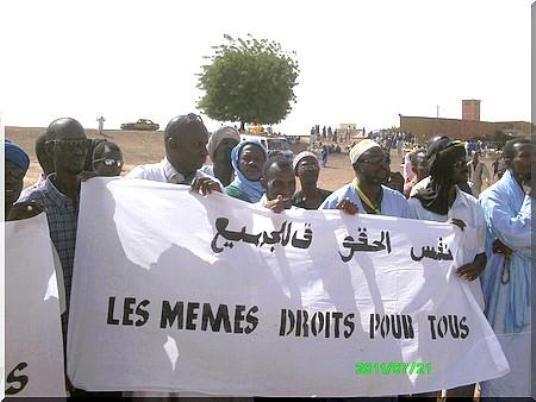 Boghé : Sit-in du Mouvement « touche pas à ma nationalité » devant le CAC