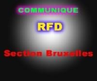 COMMUNIQUE RFD BRUXELLES
