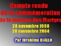 COMPTE RENDU DE LA COMMEMORATION DE LA JOURNEE DES MARTYRS