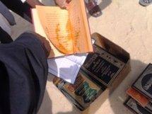 Birame incinére des livres du rite Malikite à Riyadh, vendredi 27 avril 2012