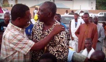 Monsieur Modi Cissé, Secrétaire général de l'AJD/MR en compagnie d'Abdoul Birane Wane