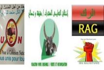 Déclaration commune de l'UCN, CVE/VR et IRA-Mauritanie/RAG