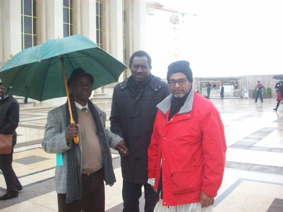 Chekh Oumar Ba, secretaire générale de la  section des FLAM en compagnie de Ousmane et de BA Alassane